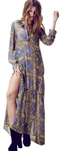 Blue, yellow Maxi Dress by For Love & Lemons