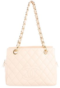 Chanel Caviar Tote in Beige