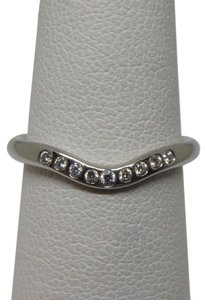 Tiffany & Co. Diamond Platinum Wedding Band Ring size 6.25