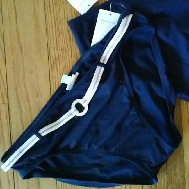 Nautica NWT Navy blue lilac belted swimsuit bottom pant sz 14