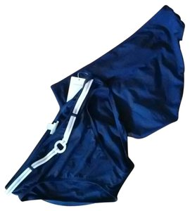 Nautica NWT Navy blue lilac belted swimsuit bottom pant sz 16