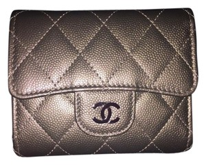 Chanel CHANEL Small Wallet Quilted Caviar in Bronze