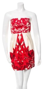 Tibi Cute Flowered Red Cocktail Dress