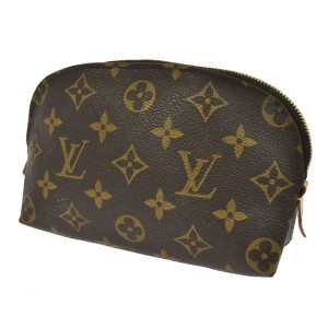 Louis Vuitton Demi Ronde 19 Monogram Canvas Leather Toilette Travel Dopp Bag