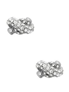 Kate Spade NEW Kate Spade Silver Tone Sailor's Knot Pave Studs
