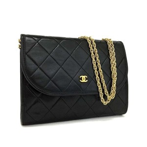Chanel Cc Mattelasse Lambskin Shoulder Bag