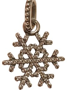 PANDORA Pandora Snowflake Charm With Clear Stones In Sterling Silver