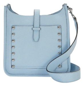 Rebecca Minkoff Blue Leather Studded Fun Small Cross Body Bag