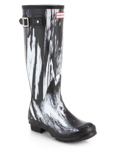 Hunter black/white Boots