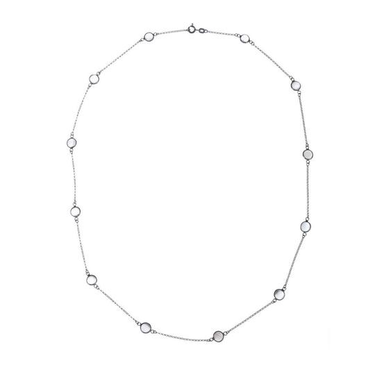 Preload https://img-static.tradesy.com/item/20196083/silvergrey-sterling-bezel-set-moonstone-cabochon-necklace-0-0-540-540.jpg