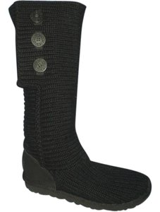 UGG Australia Cozy Cable Knit Black Boots