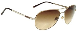 Chanel Chanel 4289-T-Q Aviator with Rhinestones Light Gold Sunglasses