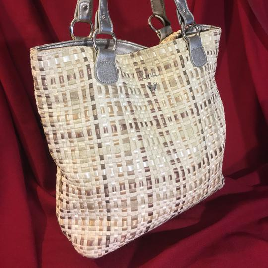 Lina Tote in Beiges And Silver