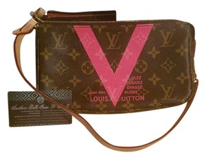 Louis Vuitton Monogram Canvas Limited Edition Leather Couture Shoulder Bag