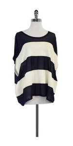 Opening Ceremony Navy Cream Striped Top
