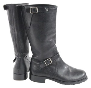 Ralph Lauren Collection Black Leather Midcalf Boots