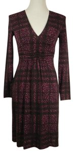 Burberry London Viscose Stretchy V-neck Dress