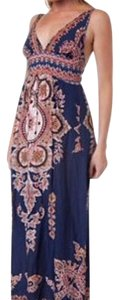 Blue/Multi Maxi Dress by Angie