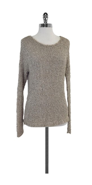 Preload https://img-static.tradesy.com/item/20196859/vince-taupe-and-silver-knit-sweaterpullover-size-8-m-0-0-650-650.jpg