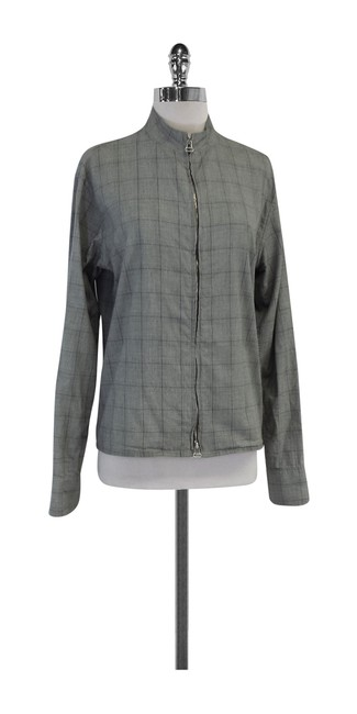 Preload https://img-static.tradesy.com/item/20196881/rag-and-bone-grey-checkered-cotton-zip-shirt-button-down-top-size-8-m-0-0-650-650.jpg