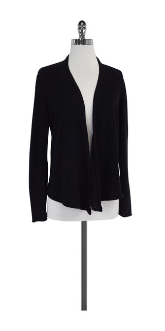 Preload https://img-static.tradesy.com/item/20196884/eileen-fisher-black-front-cardigan-size-4-s-0-0-650-650.jpg