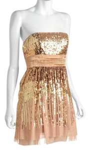 BCBGMAXAZRIA Sequin Silk Empire Waist Dress