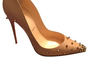 Christian Louboutin Nude/Gold Pumps