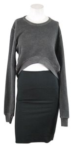 Damir Doma Silent Gray Cropped Hi Low Sweater