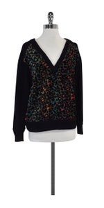 Tracy Reese Multi Color Leopard Print V-neck Sweater
