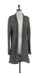 Eileen Fisher Long Grey Open Knit Cardigan