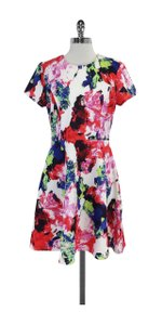 MILLY short dress Multi Color Neoprene Short Sleeve on Tradesy