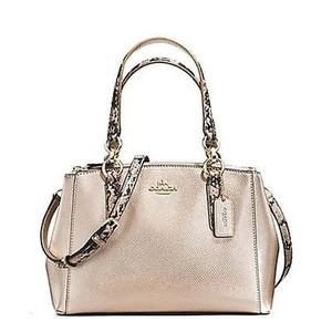 Coach Mini Christle Carryall Satchel in Gold Platinum