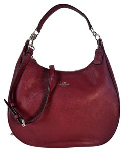 Coach Leather Crossbody Hobo Bag
