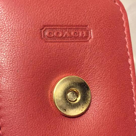 Coach Red Leather Coach Vintage Phone Wristlet Case