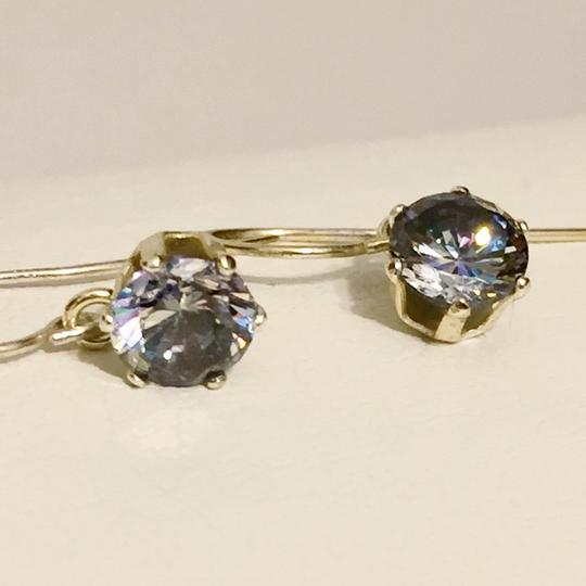 Anthropologie Polished Mystic Topaz Crystal 925 Sterling Silver Hook Earrings