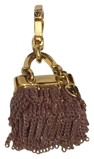 Juicy Couture Juicy Couture Collectible Shaggy Tassel Purse Charm Gold