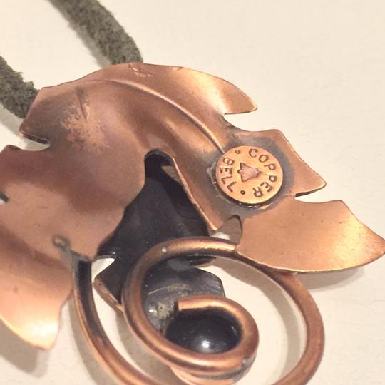 Bell Solid Copper By Bell Pendant Medallion Floral Leaf Rare