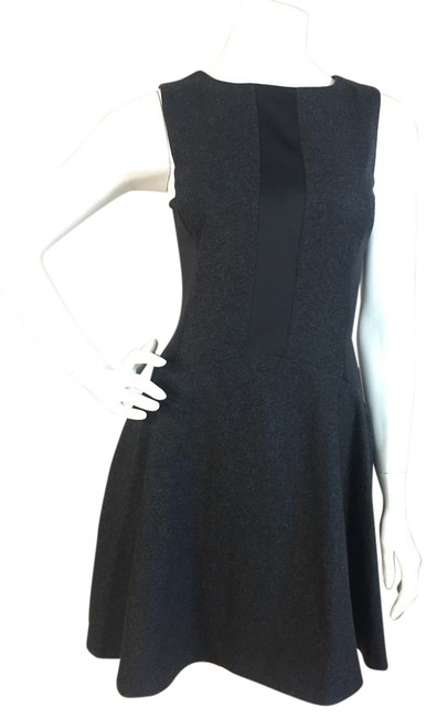 Preload https://img-static.tradesy.com/item/20197227/susana-monaco-black-gray-wool-blend-sleeveless-fit-and-flare-above-knee-cocktail-dress-size-4-s-0-1-650-650.jpg
