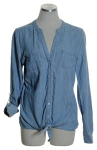 Candie's Button Down Shirt Blue
