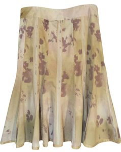 Anthropologie Pinks Full 6 Skirt Pink Pallette