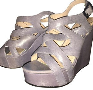 Vince Camuto Grey/hint of blue Wedges