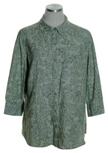 Croft & Barrow Button Down Shirt Green