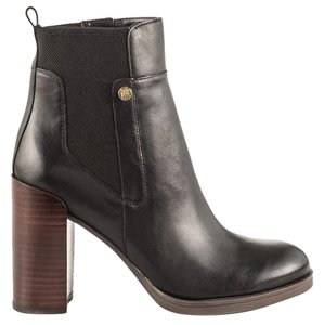 Tommy Hilfiger Britton Closed-toe Zipper Leather Black Boots