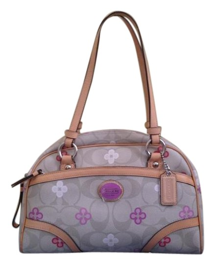 Preload https://img-static.tradesy.com/item/20197413/coach-peyton-signature-clover-new-without-tags-khaki-and-multicolor-coated-canvas-leather-satchel-0-1-540-540.jpg