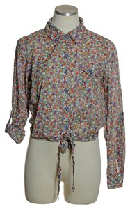 Xhilaration Button Down Shirt Multi-color