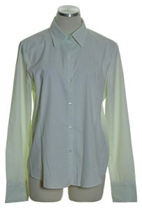 George Button Down Shirt Green White