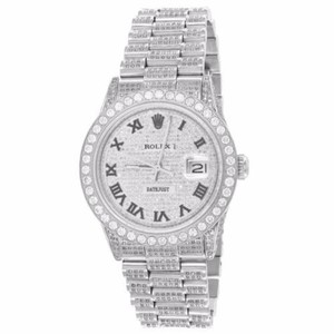 Rolex Rolex Datejust Watch Custom Diamonds Stainless Steel Mensl 36mm