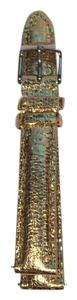 Michele Nwt Michele Authentic Gold Metallic Leather 16MM Watch Strap Band