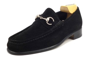 Gucci Men's Suede Horse Bit Loafers 015938