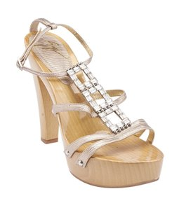 Giuseppe Zanotti Leather Gold Sandals